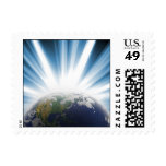 Planet Earth from Space Stamp