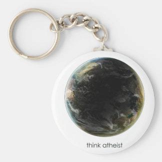 Planet Earth Gear Basic Round Button Keychain