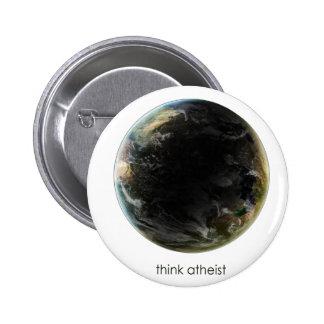 Planet Earth Gear Pinback Button