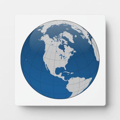 Planet Earth Globe Plaque