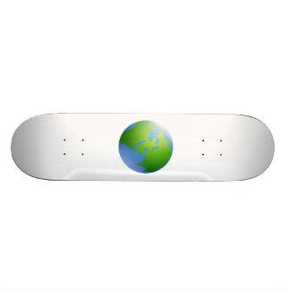Planet Earth Globe Custom Skate Board