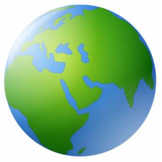 Planet Earth Globe Statuette