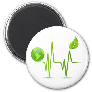 PLANET EARTH HEART MONITOR FRIDGE MAGNETS
