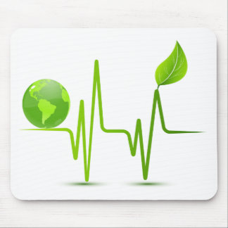 PLANET EARTH HEART MONITOR MOUSE PAD