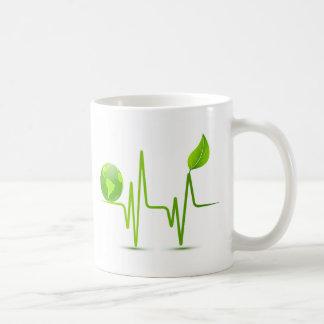 PLANET EARTH HEART MONITOR CLASSIC WHITE COFFEE MUG
