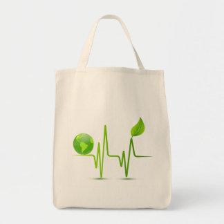 PLANET EARTH HEART MONITOR TOTE BAG