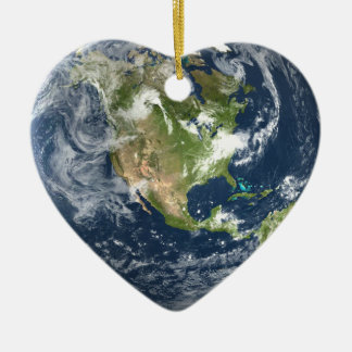 Planet Earth Heart ornament
