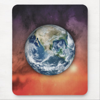 Planet Earth In Space Mouse Pad