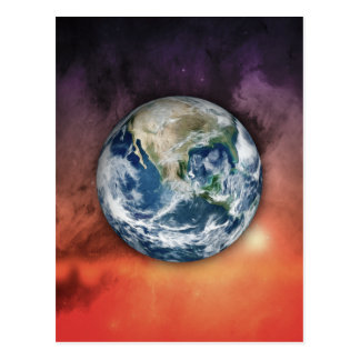 Planet Earth In Space Postcard