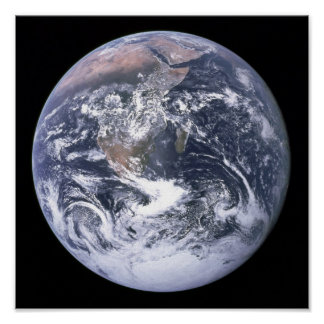 Planet Earth in the Milky Way Poster
