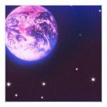 """Planet Earth Invitations 5.25"""" Square Invitation Card"""