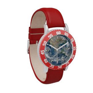 Planet Earth Kid's Adjustable Bezel Steel Watch