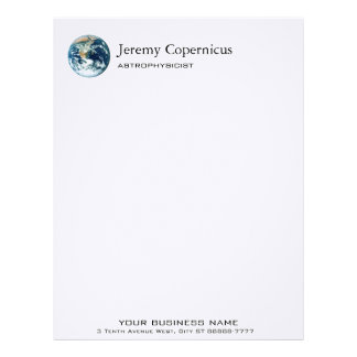 Planet Earth Letterhead