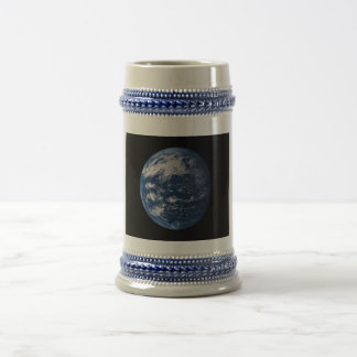 Planet Earth Looking At The Pacific Ocean Beer Stein