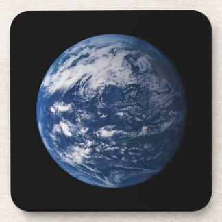 Planet Earth Looking At The Pacific Ocean Beverage Coaster