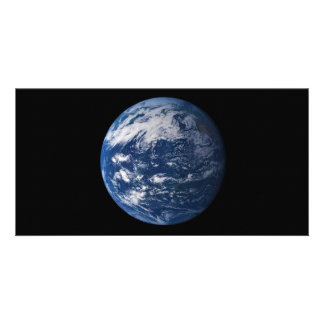 Planet Earth Looking At The Pacific Ocean Personalized Photo Card