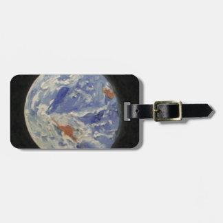Planet Earth Travel Bag Tag
