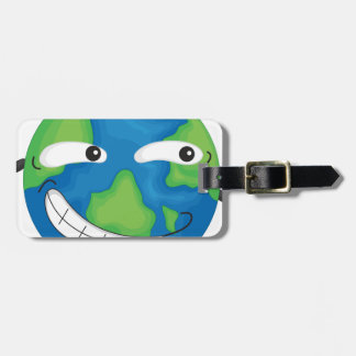 planet earth tag for luggage