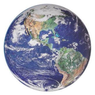 Planet Earth Melamine Dinner Plate