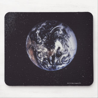 Planet earth mouse pad