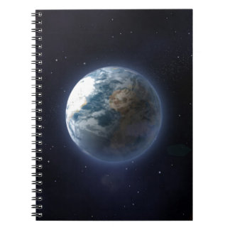 Planet Earth Spiral Note Books