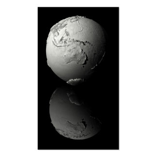 Planet Earth On Black Background, Australia, 3d Business Card