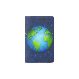 Planet Earth on space pocket notebook
