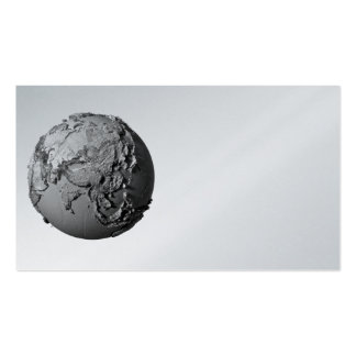 Planet Earth On White Background - Asia, 3d Business Card