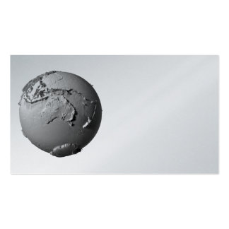 Planet Earth On White Background - Australia, 3d Double-Sided Standard Business Cards (Pack Of 100)