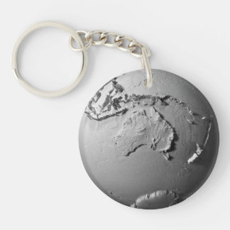 Planet Earth On White Background - Australia, 3d Keychain