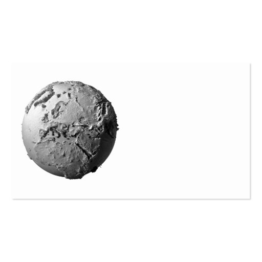 Planet Earth On White Background - Europe, 3d Business Card Templates