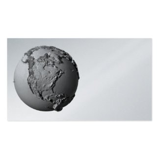 Planet Earth On White Background - North America Double-Sided Standard Business Cards (Pack Of 100)
