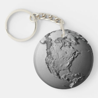 Planet Earth On White Background - North America Keychain