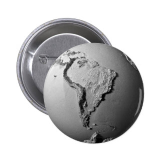Planet Earth On White Background - South America 2 Inch Round Button