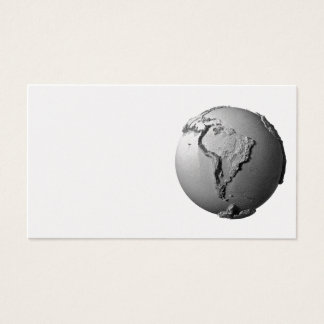 Planet Earth On White Background - South America Business Card