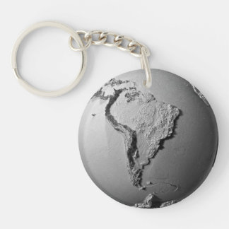 Planet Earth On White Background - South America Keychain
