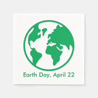 Planet Earth Paper Napkin