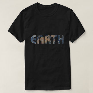 Planet Earth Photo Background T-Shirt