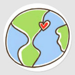 Planet Earth Picture! Round Sticker