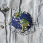 "Planet Earth Pinback Button<br><div class=""desc"">Show the world your love for the... . world?  The big blue marble of planet earth is featured in this design.</div>"