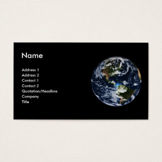 Planet Earth Profile Card