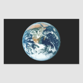 Planet Earth Rectangular Sticker
