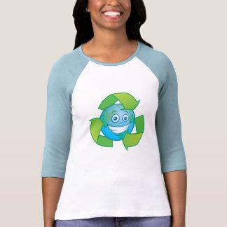 Planet Earth Recycle Cartoon Character Tshirts