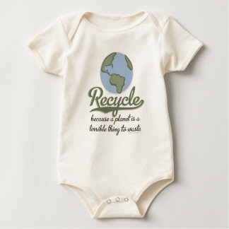 Planet Earth Recycle Organic Baby Bodysuit