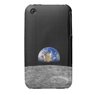Planet earth rising over Moon Case-Mate iPhone 3 Case