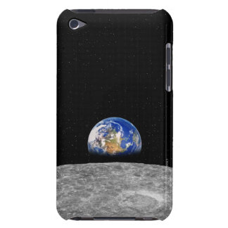 Planet earth rising over Moon iPod Touch Case