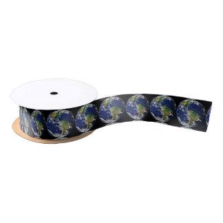Planet Earth Satin Ribbon