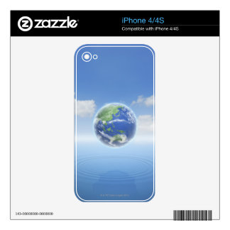 Planet Earth Skin For iPhone 4