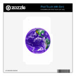 Planet Earth Skin For iPod Touch 4G