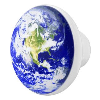 Planet Earth Solar System Ceramic Knob